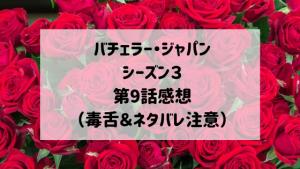 バチェラージャパンシーズン3 第9話感想(毒舌&ネタバレ注意)